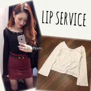 リップサービス(LIP SERVICE)のLIP SERVICE♡クロスカットトップス(カットソー(長袖/七分))