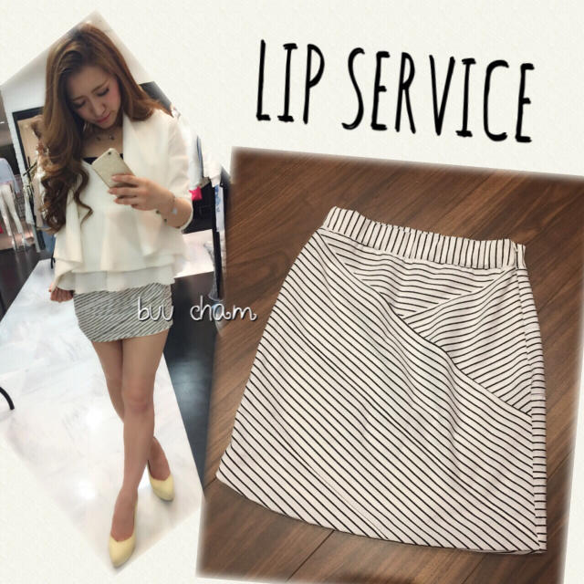 LIP SERVICE(リップサービス)のLIP SERVICE♡バイヤスラインミニスカート レディースのスカート(ミニスカート)の商品写真
