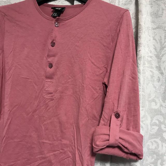 H&M(エイチアンドエム)のメンズ!H&M*長袖カットソー*Tシャツ*XSサイズ メンズのトップス(Tシャツ/カットソー(七分/長袖))の商品写真