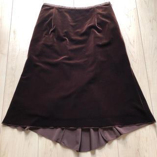 ベルメゾン(ベルメゾン)のベロア素材 フィッシュテール スカート(ひざ丈スカート)