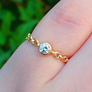 お値下げ!クアラントット K18YG ダイヤモンド ステラ リング(リング(指輪))