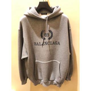 バレンシアガ(Balenciaga)のBALENCIAGA パーカー Sサイズ グレー(パーカー)