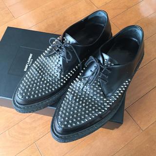 サンローラン(Saint Laurent)のサンローラン   クリーパー シューズ ブラック  ブーツ (ドレス/ビジネス)