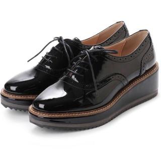 イーボル(EVOL)のEVOL  プラットフォームレースアップシューズ(ローファー/革靴)