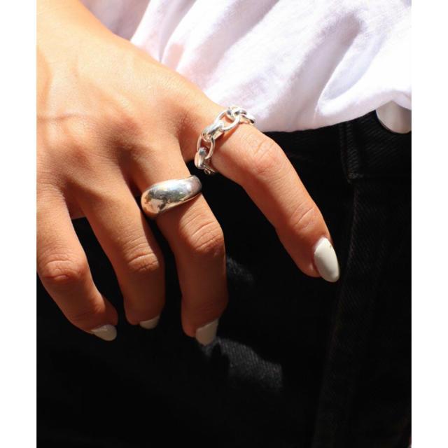 TODAYFUL(トゥデイフル)のPt ビッグチェーンリング レディースのアクセサリー(リング(指輪))の商品写真