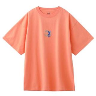 エックスガール(X-girl)のX-girl★3D LOGO TEE オーバーサイズ Tシャツ 2オレンジ(Tシャツ(半袖/袖なし))