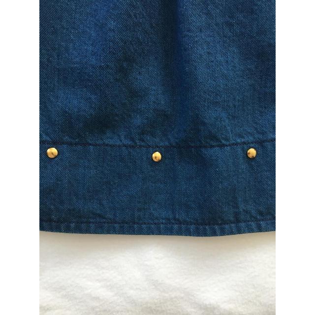 Chesty(チェスティ)のChestyデニムフレアスカート☆ゴールドスタッズ付き レディースのスカート(ひざ丈スカート)の商品写真