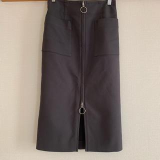 ノーブル(Noble)のNOBLE T/Wダブルクロスフープジップタイトスカート(ひざ丈スカート)
