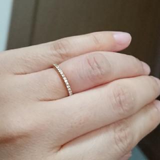 ☆ピンクゴールド ダイヤモンドリング☆6.5号☆定価10万円(リング(指輪))