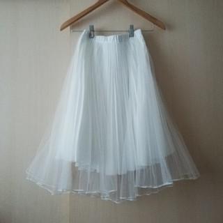 ココディール(COCO DEAL)のふんわりプリーツチュールスカート(ひざ丈スカート)