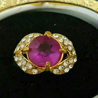 ◆9◆ ピンクのゴールドリング (リング(指輪))