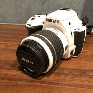 PENTAX - PENTAX K-50 一眼レフカメラ レンズキット 白 ホワイト ペンタックス