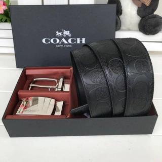 COACH - コーチCOACH メンズ ベルト ブラック&B