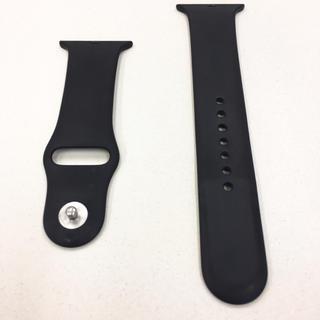 アップルウォッチ(Apple Watch)のアップルウォッチ 黒 ラバーベルト AppleWatch 42mm 44mm(その他)
