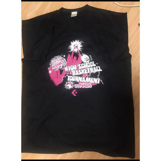 コンバース(CONVERSE)のバスケ 高校 近畿大会 2011 練習Tシャツ 半袖 黒 新品未使用(バスケットボール)