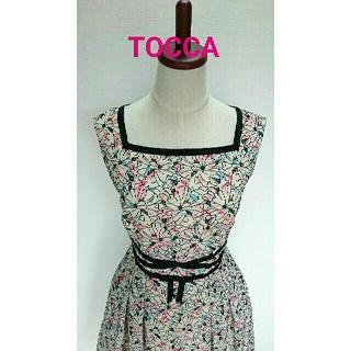 トッカ(TOCCA)のトッカ TOCCA  花柄 刺繍 ワンピース(ひざ丈ワンピース)