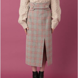 ミーアンドミークチュール(me & me couture)の新品未使用タグ付き♡UK WOOL チェックタイトスカート(ロングスカート)