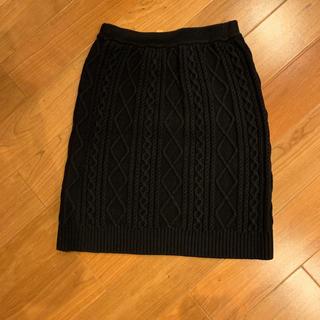 レイビームス(Ray BEAMS)のレイビームス☆ニットスカート ブラック(ミニスカート)