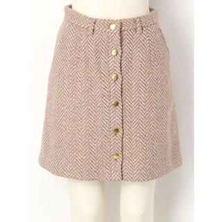 Lily Brown - ヘリンボン台形スカート