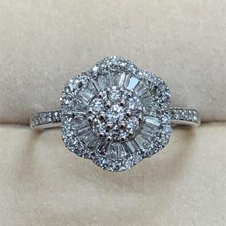 K18WGダイヤモンドリング
