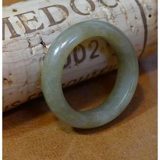 J593 ヒスイ 翡翠 リング 指輪 9.5号 ミャンマー ジェイド ジェダイト(リング(指輪))