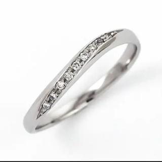 プラチナ900 ダイヤモンド0.05カラットリング8号(リング(指輪))