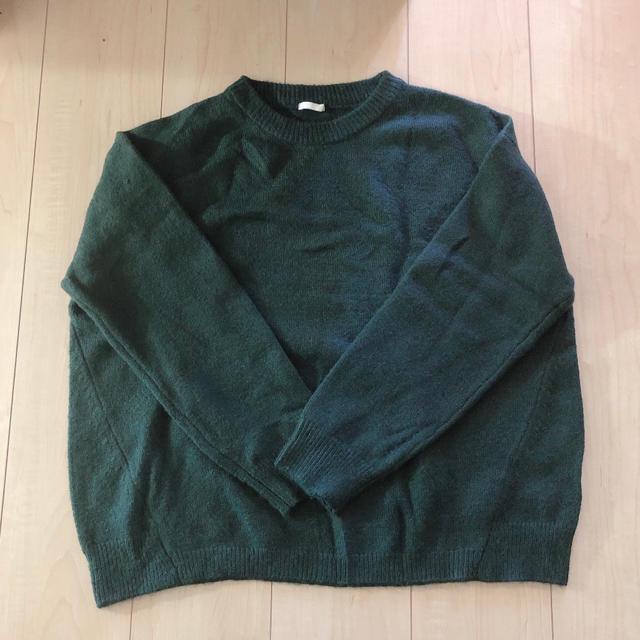 GU(ジーユー)のGU ニット セーター M グリーン レディースのトップス(ニット/セーター)の商品写真
