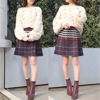 マーキュリーデュオ(MERCURYDUO)の新品 タグ付き 人気 完売 ♡ MERCURYDUO ツイード ミニ スカート(ミニスカート)