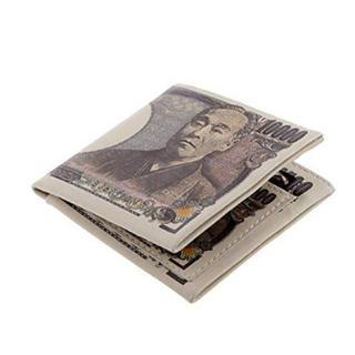 1万円札柄 万札柄 財布 金運 アップ 折りたたみ 2つ折り福財布福沢諭吉