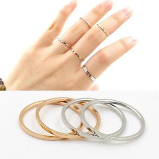 2点セット 1mm リング ステンレスリング ステンレス指輪 ピンキーリング(リング(指輪))