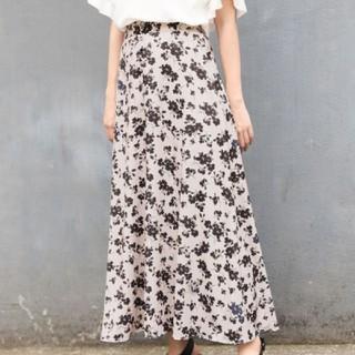 LOWRYS FARM - ローリーズファーム 花柄スカート フラワーボタンAラインスカート