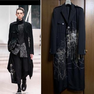 Yohji Yamamoto - 美品 19AW ヨウジオム 羊ト蝙蝠二面刺繍JKT コート 【1019】