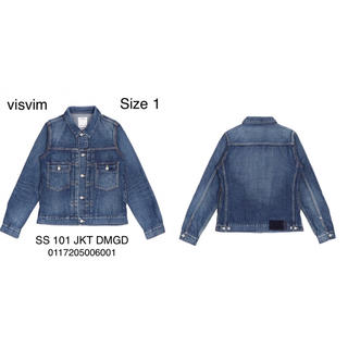 ヴィスヴィム(VISVIM)のvisvim SS 101 JKT DMGD JKT Size 1(Gジャン/デニムジャケット)