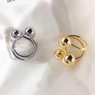 フリークスストア(FREAK'S STORE)のTriple ball silver ring No.154(リング(指輪))