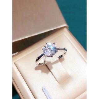 女性用アクセサリー 合成ダイヤ リング 8号(リング(指輪))