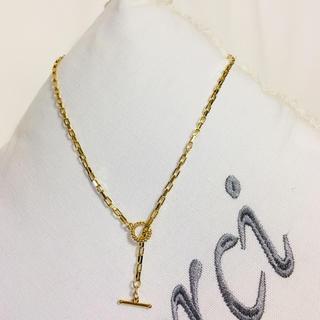 ドゥーズィエムクラス(DEUXIEME CLASSE)のゴールド スクエアチェーン ネックレス マンテル留め具付き(ネックレス)