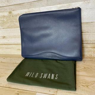 Hermes - WILDSWANS ワイルドスワンズ クラッチバッグ インクブルー 生産終了品