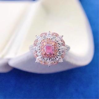 ♡L.Pinkダイヤモンドリング(リング(指輪))