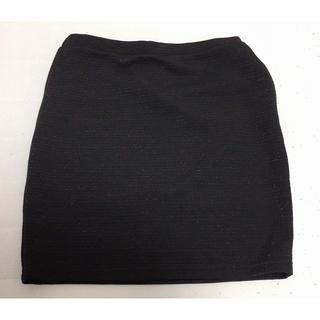 アベイル(Avail)のミニスカート ブラック ラメ入り Mサイズ(ミニスカート)