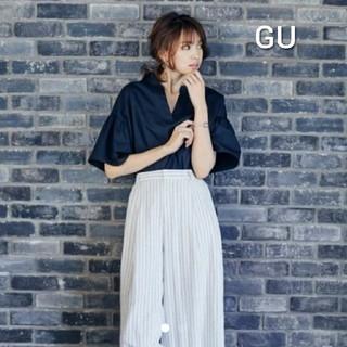 GU - 宮田聡子ちゃん着用【未使用品】GU・フリルスリーブスキッパーブラウス