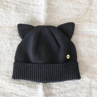 kate spade new york - ケイトスペード ベビー 猫耳 ラメニット帽 Sサイズ