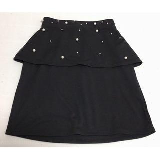 アベイル(Avail)のミニスカート ブラック パール付 Mサイズ(ミニスカート)