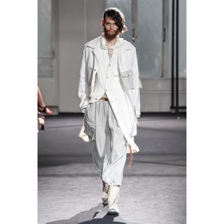 ヨウジヤマモト(Yohji Yamamoto)のヨウジヤマモト プールオム 17ss インドカディ ストール付きシャツコート(シャツ)