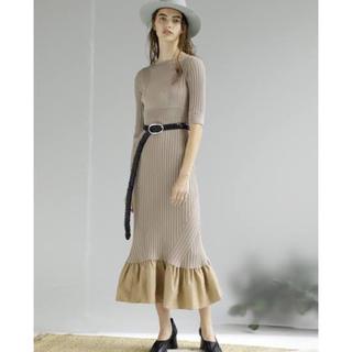 FRAY I.D - ラッフルヘムニットドレス styling//スタイリング