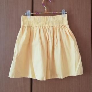 レトロガール(RETRO GIRL)のペールカラーのイエロースカート(ミニスカート)