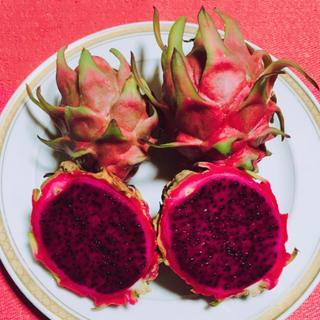 数量限定!都内有名店御用達!甘く美味しい!沖縄産ドラゴンフルーツ赤果肉 2kg(フルーツ)