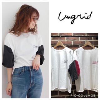 Ungrid - Ungrid*バイカラーロゴtee