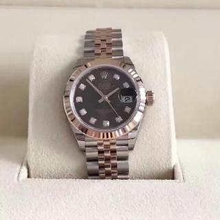 ROLEX - ロレックス日誌型バラゴールド機械女子時計のカレー面