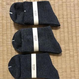 MUJI (無印良品) - 靴下    無印良品     スービマ綿混  レディース   3足