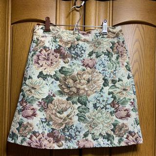 ローリーズファーム(LOWRYS FARM)の花柄台形スカート(ミニスカート)